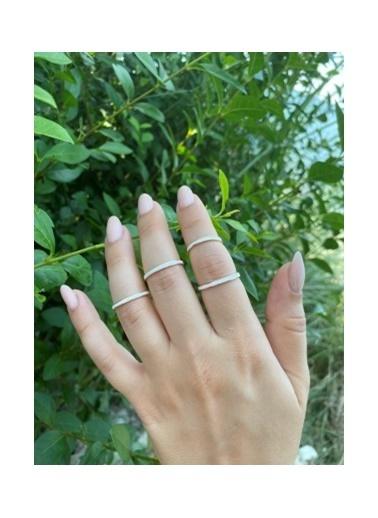 Modd Takı Beyaz 4 Boy Eklem Yüzüğü Moddyzk15 Beyaz